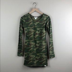 NWT Billabong Camo Bodycon Tunic Dress (Small)